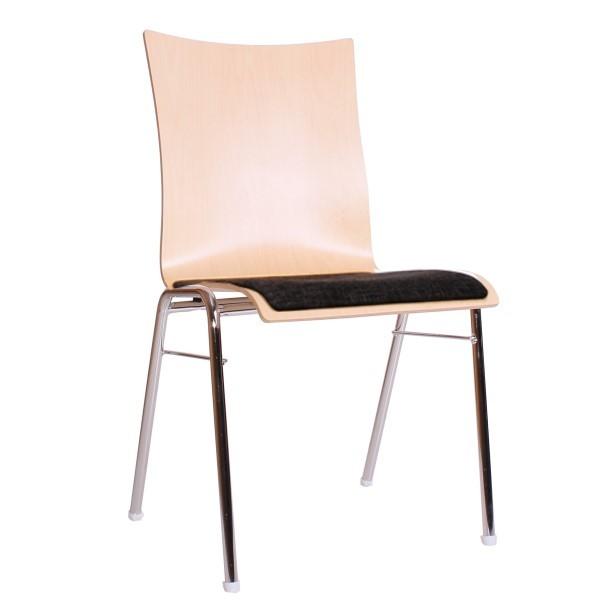 Konferenzstuhl   Seminarstuhl stapelbar, Sitz gepolstert, individuelle Zusammenstellung