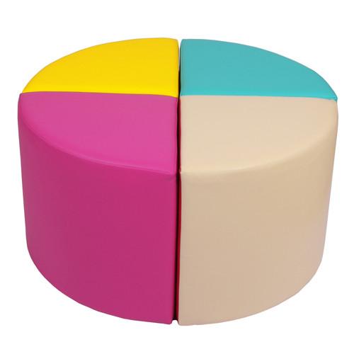 Kreis bestehend aus 4 x JUNO S 90, mit Bezug aus Kunstleder KB