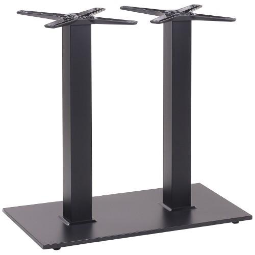 Tischgestell mit 2 Säulen und flacher Bodenplatte