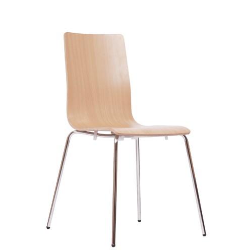 Metall Stuhl stapelbar KEMA in Buche natur