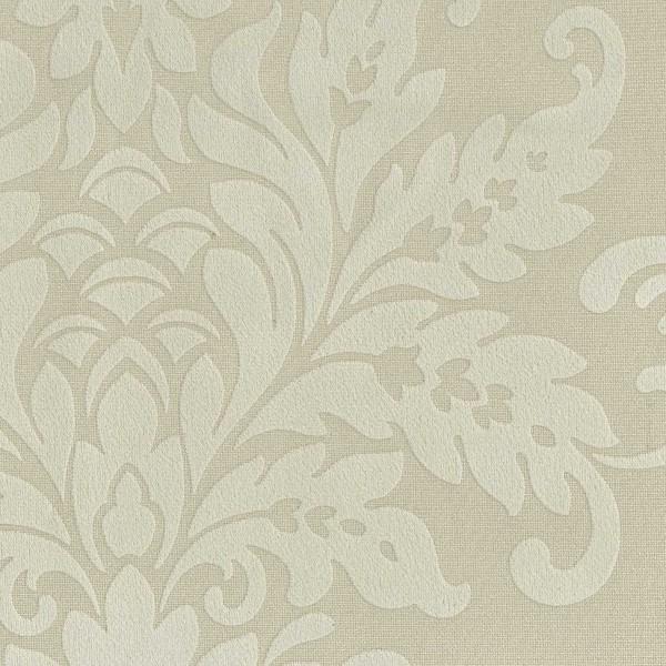 Polsterstoff   Mikrofaser-Stoff mit barocken floralen Ornamenten - BD04-beige