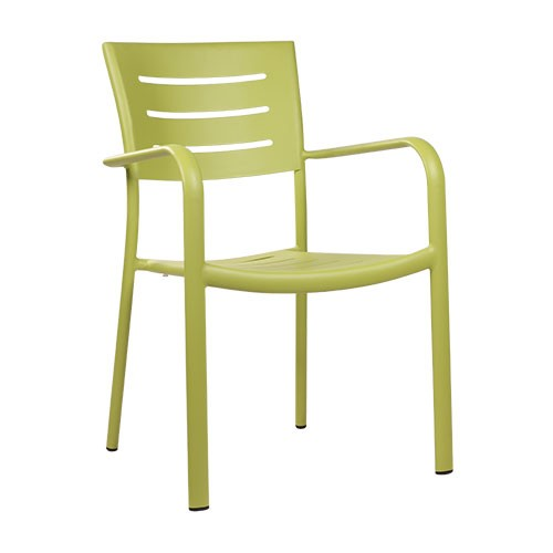 Outdoor-Stuhl BARIO limettengrün - stapelbar