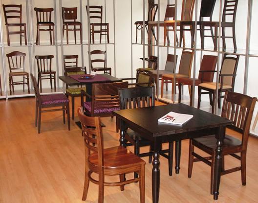 Gastronomiestühle pemora Showroom