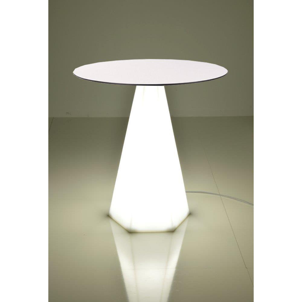 Bistrotisch mit LED-Beleuchtung