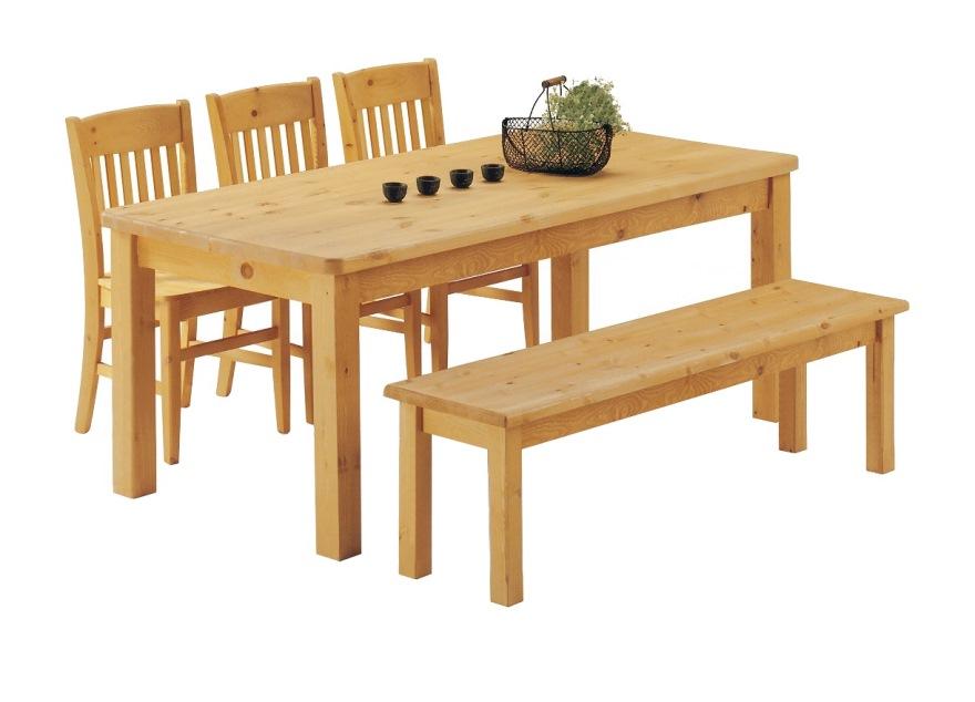 Landhaus Tischgruppe mit Holzbank